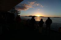 Sunset on NAVIMAG ferry